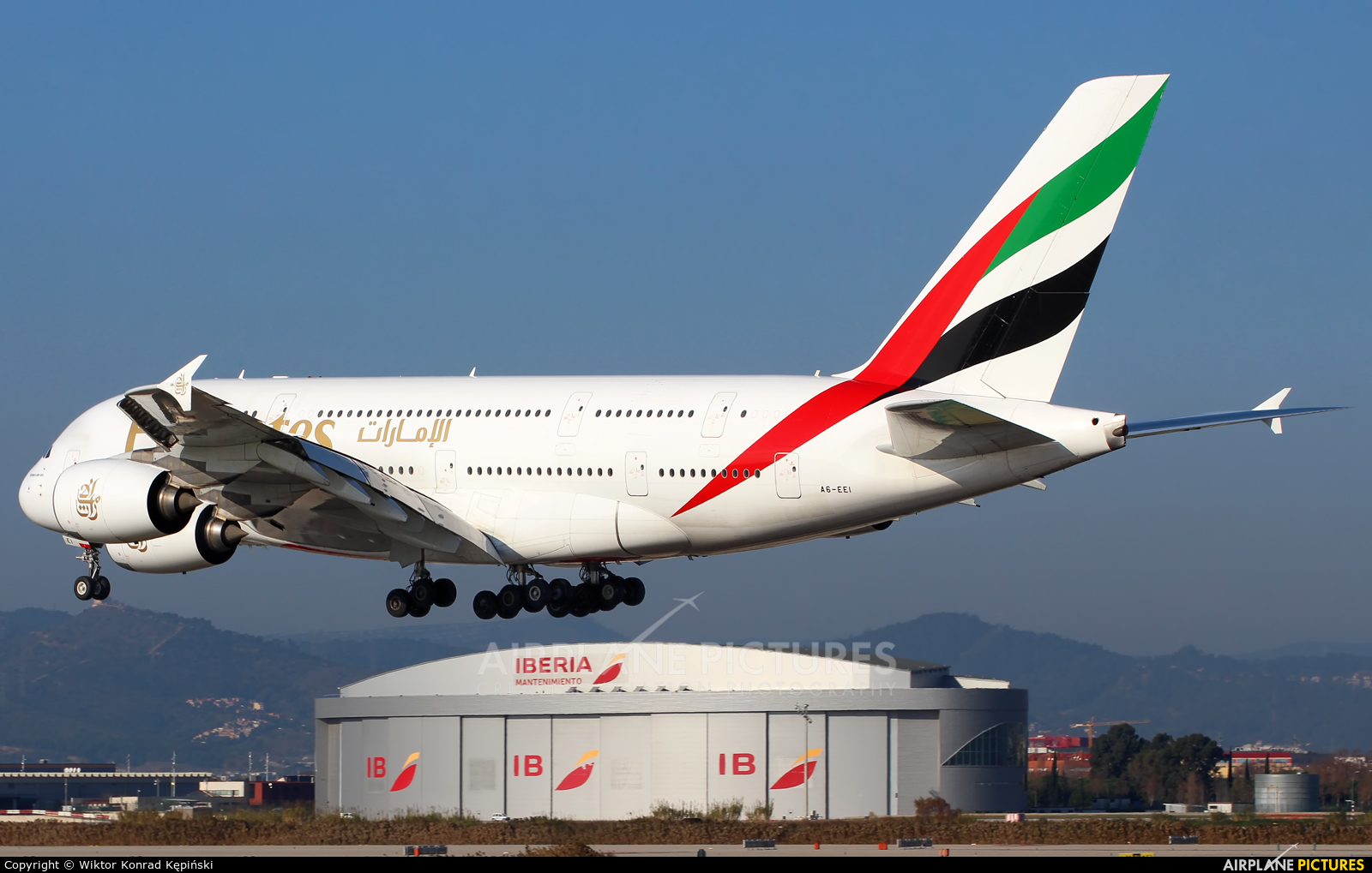 Emirates Airlines A6-EEI aircraft at Barcelona - El Prat