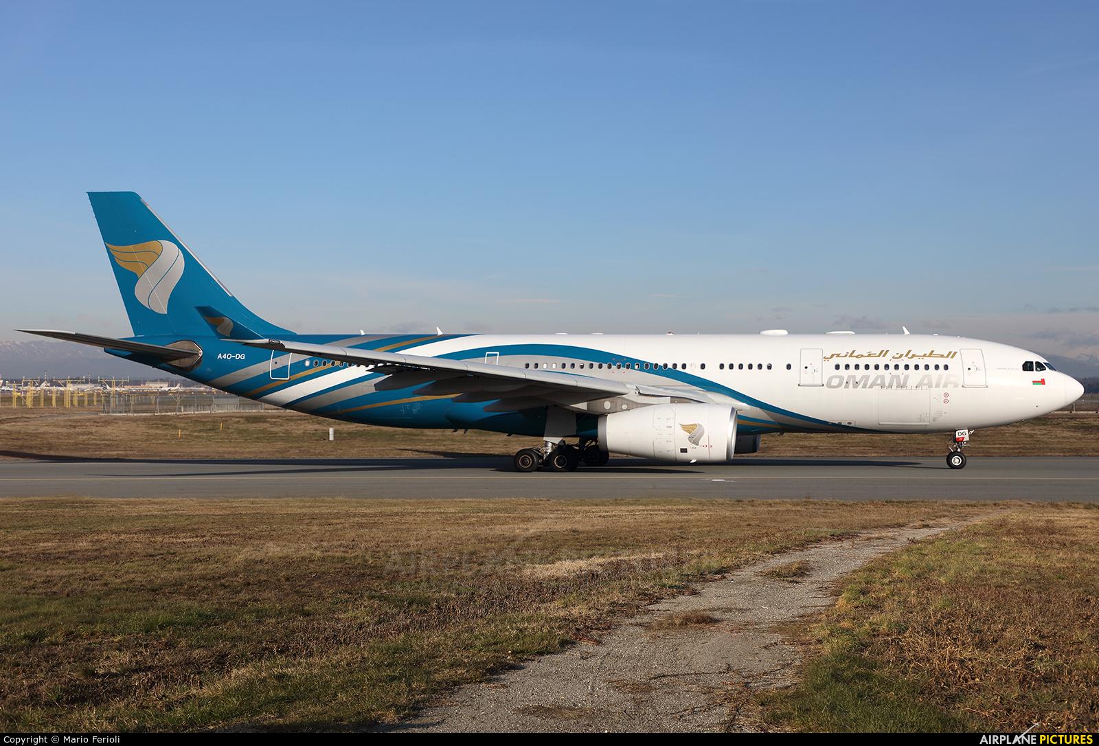 Oman Air A4O-DG aircraft at Milan - Malpensa