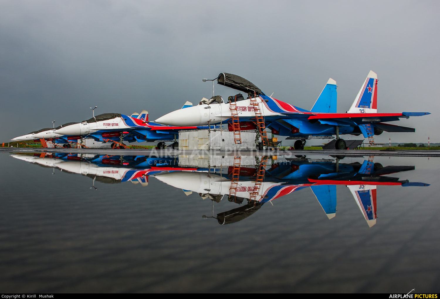 "Russia - Air Force ""Russian Knights"" RF-81703 aircraft at Bolshoe Savino - Perm"