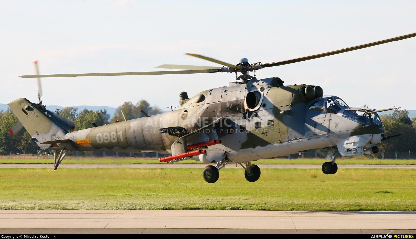 Czech - Air Force 0981 aircraft at Ostrava Mošnov