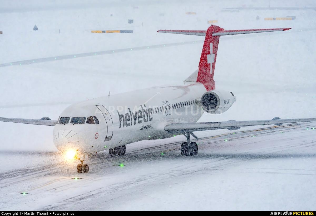 Helvetic Airways HB-JVE aircraft at Zurich