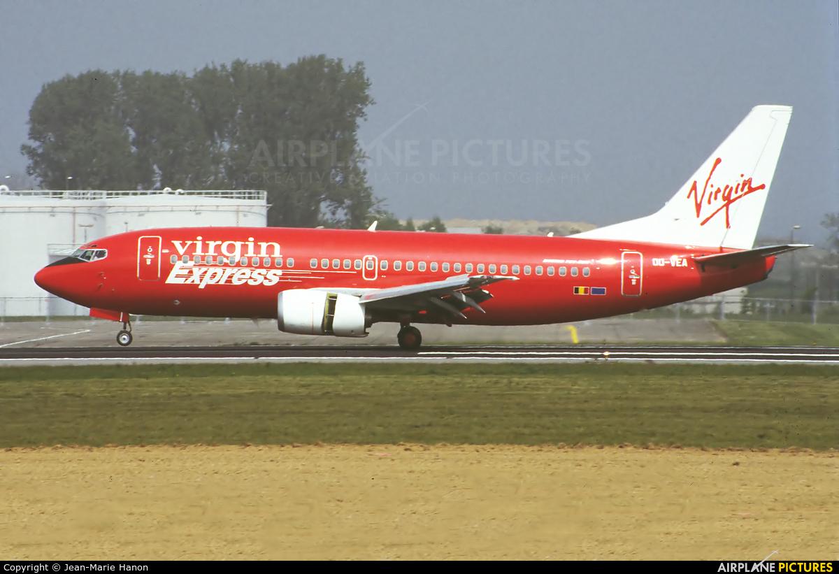 Virgin Express OO-VEA aircraft at Brussels - Zaventem