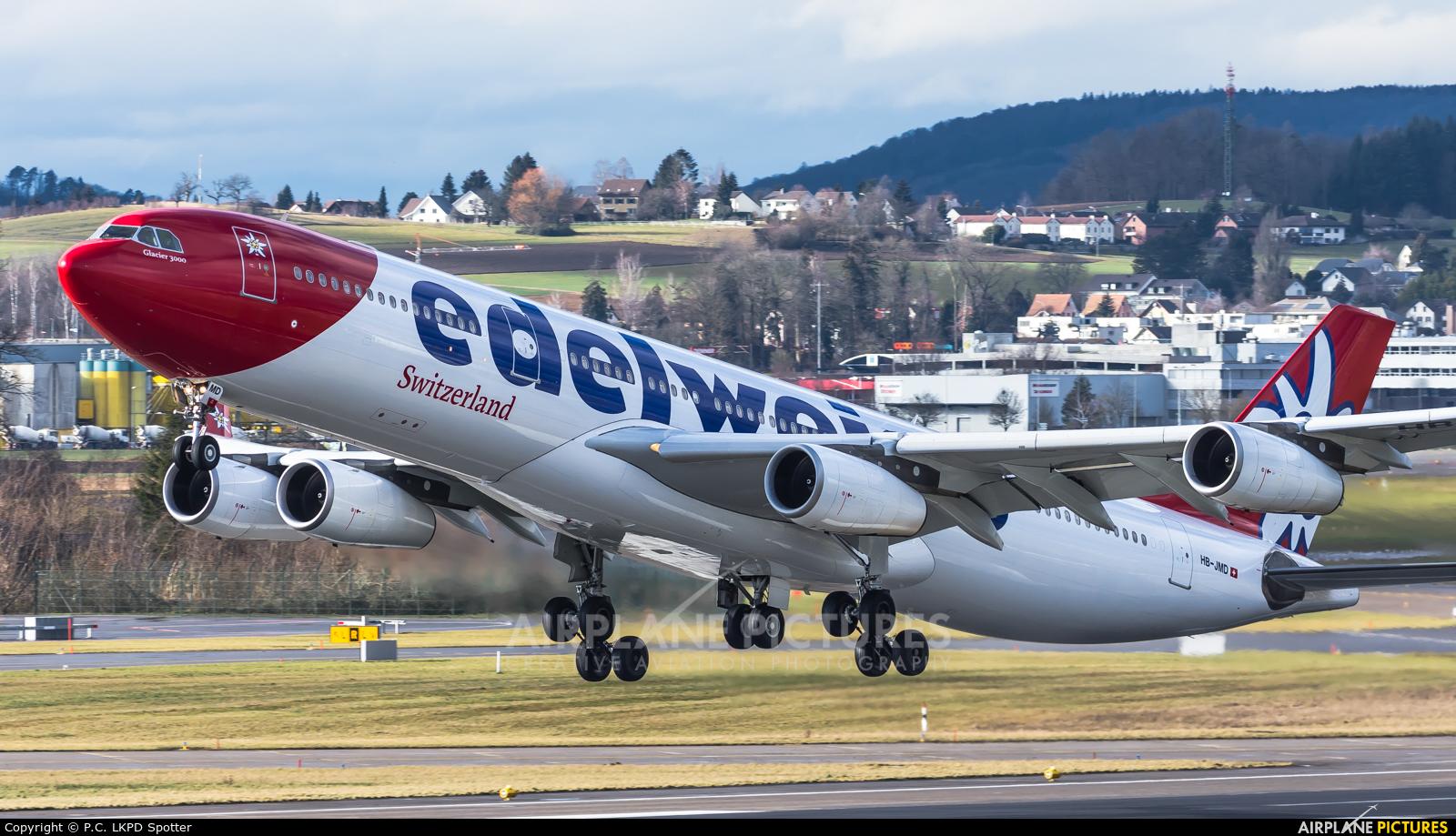 Edelweiss HB-JMD aircraft at Zurich