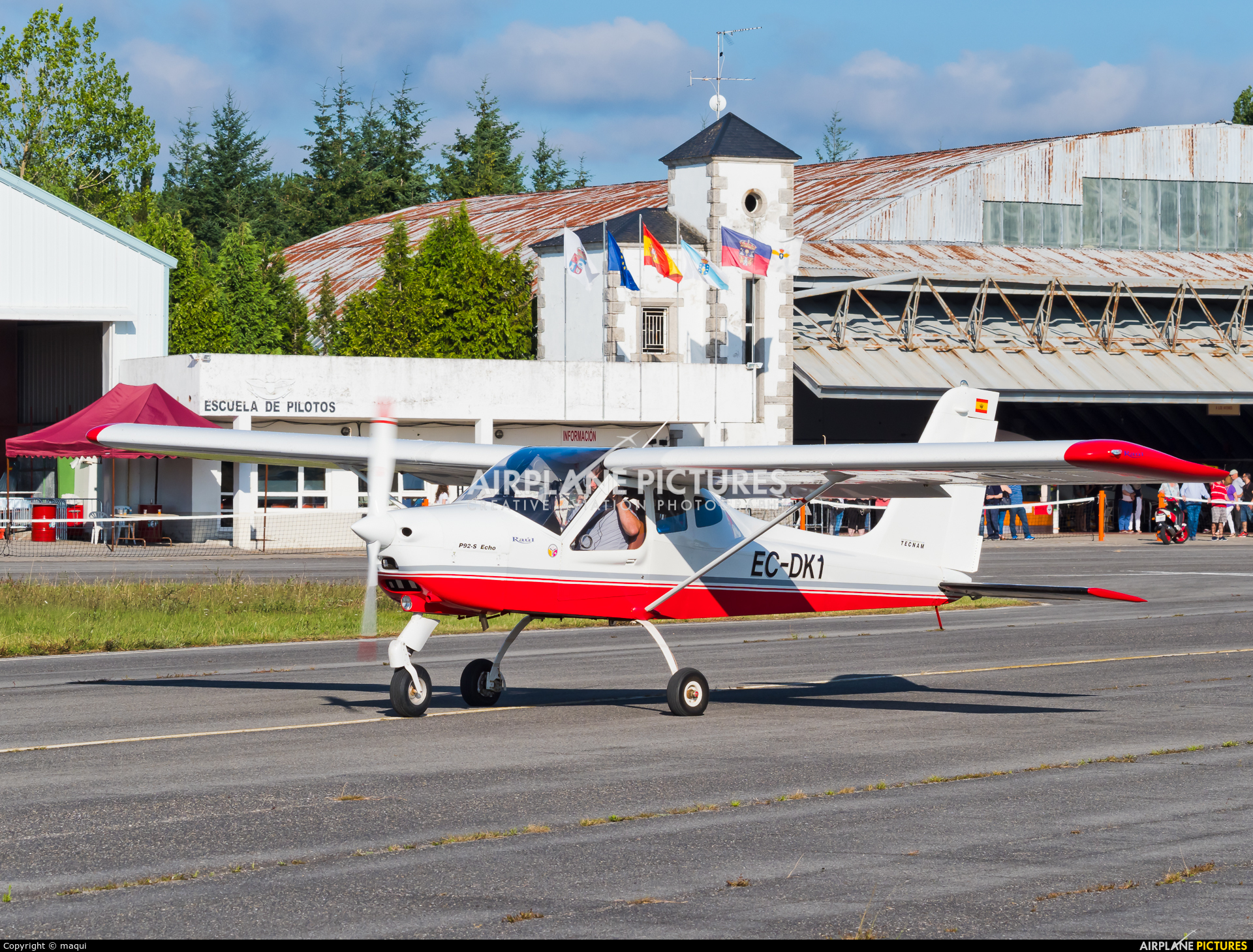 Private EC-DK1 aircraft at Lugo - Rozas