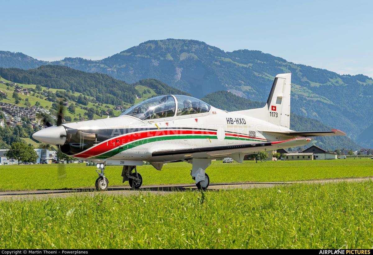 Pilatus HB-HXD aircraft at Buochs