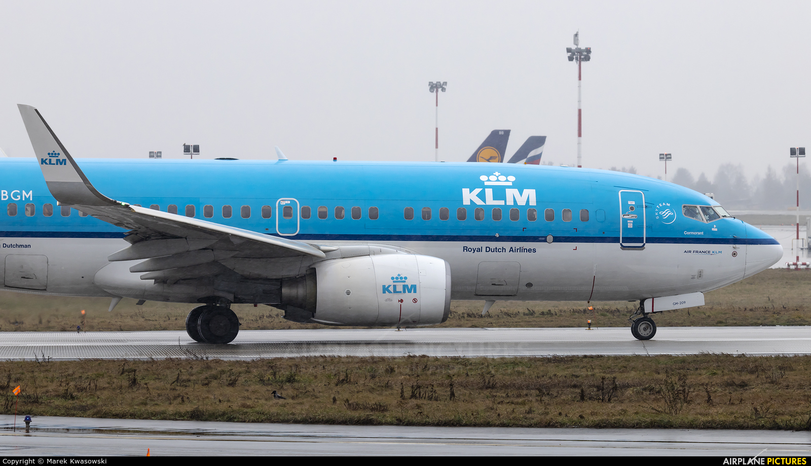 KLM PH-BGM aircraft at Warsaw - Frederic Chopin