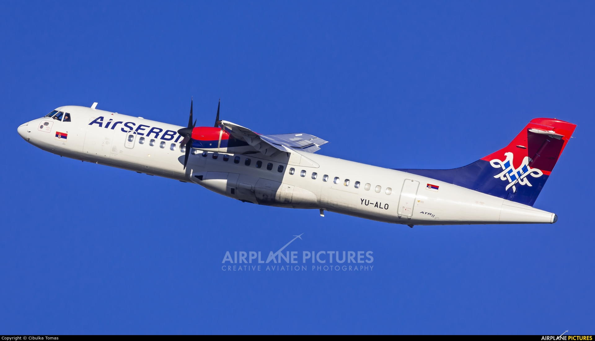 Air Serbia YU-ALO aircraft at Prague - Václav Havel