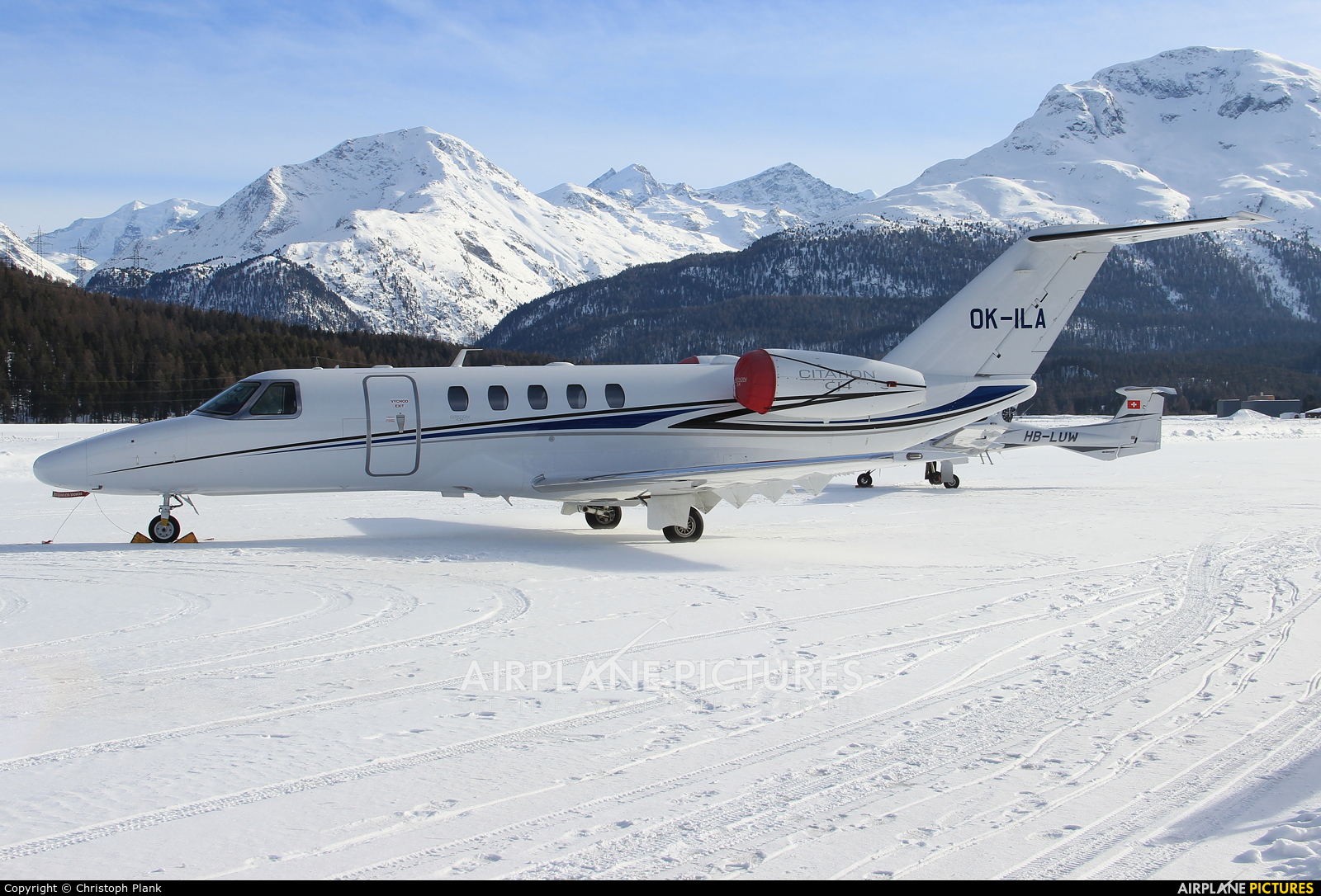 Private OK-ILA aircraft at Samedan - Engadin