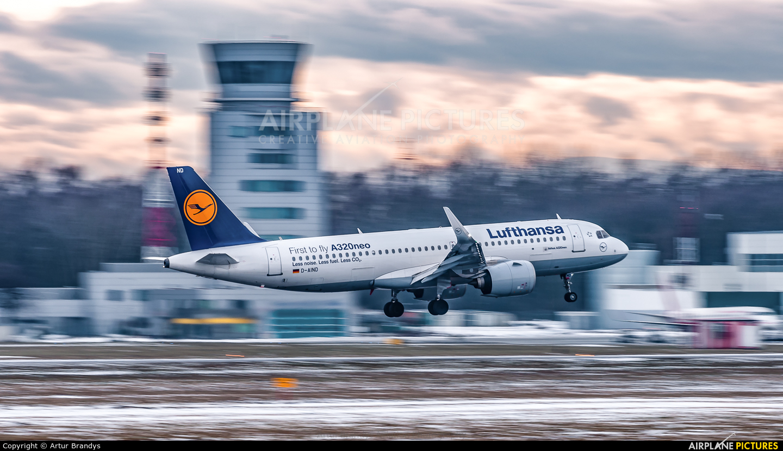 Lufthansa D-AIND aircraft at Kraków - John Paul II Intl