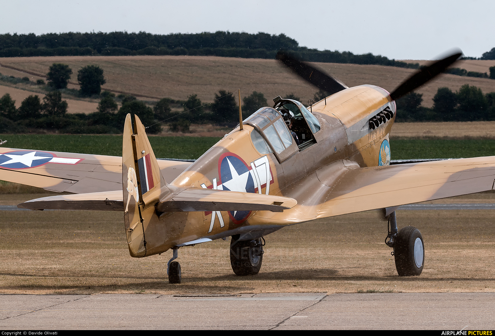 The Fighter Collection G-CGZP aircraft at Duxford