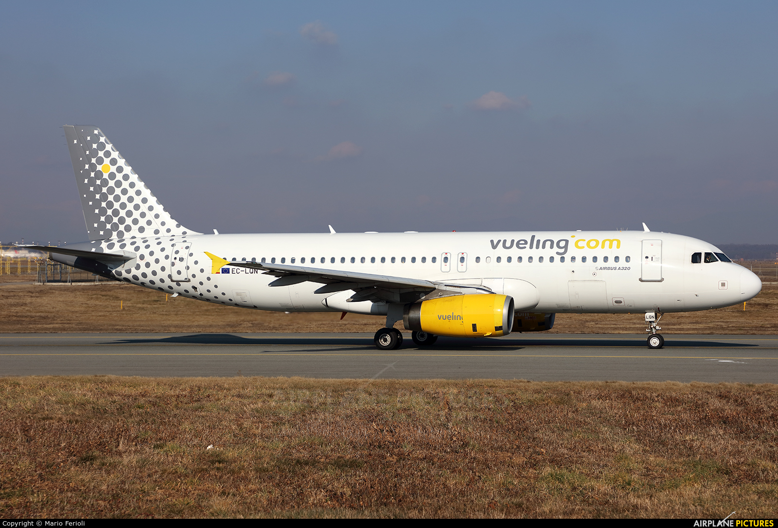 Vueling Airlines EC-LQN aircraft at Milan - Malpensa