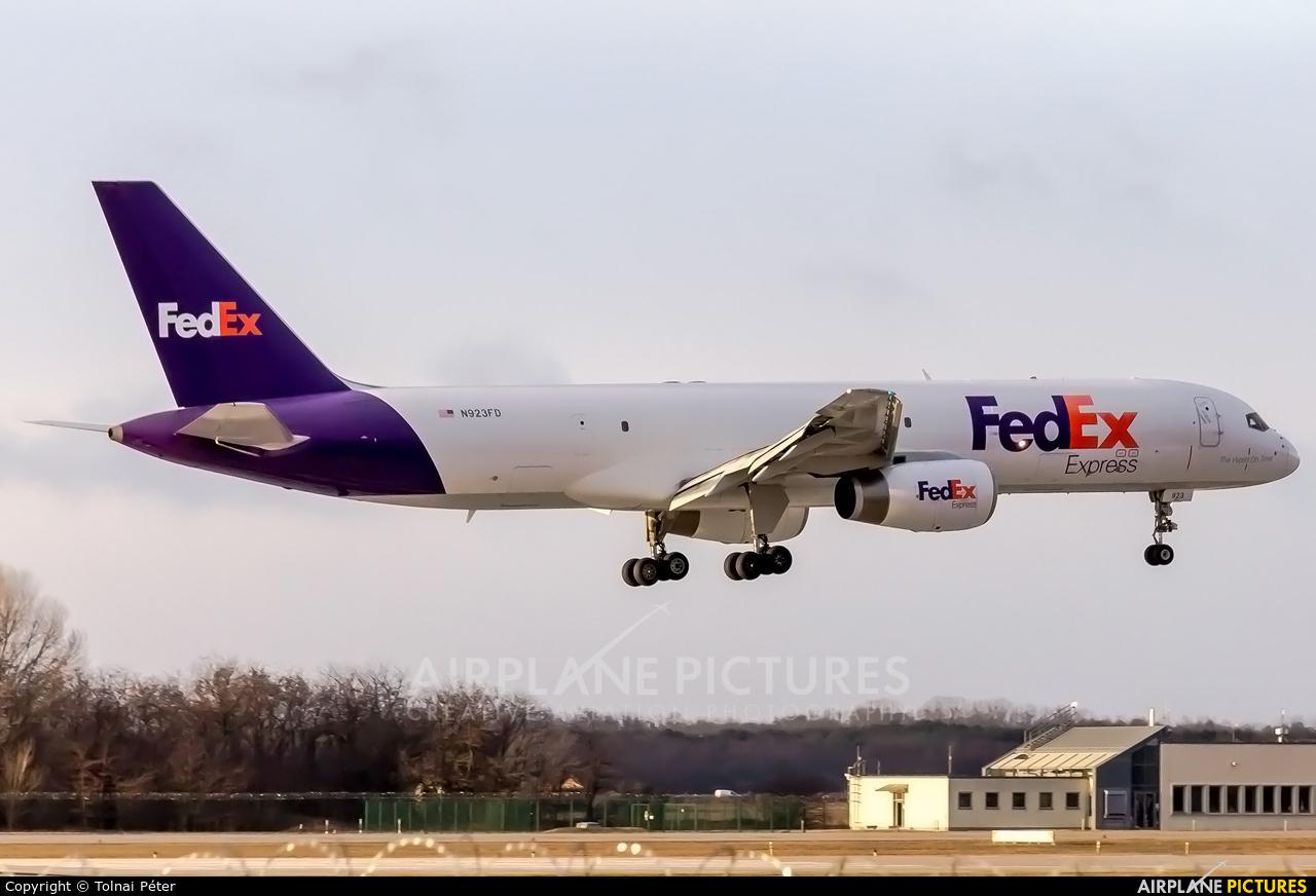 FedEx Federal Express N923FD aircraft at Budapest Ferenc Liszt International Airport