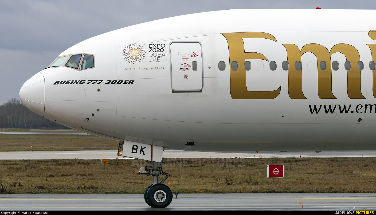 Emirates Airlines A6-EBK aircraft at Warsaw - Frederic Chopin