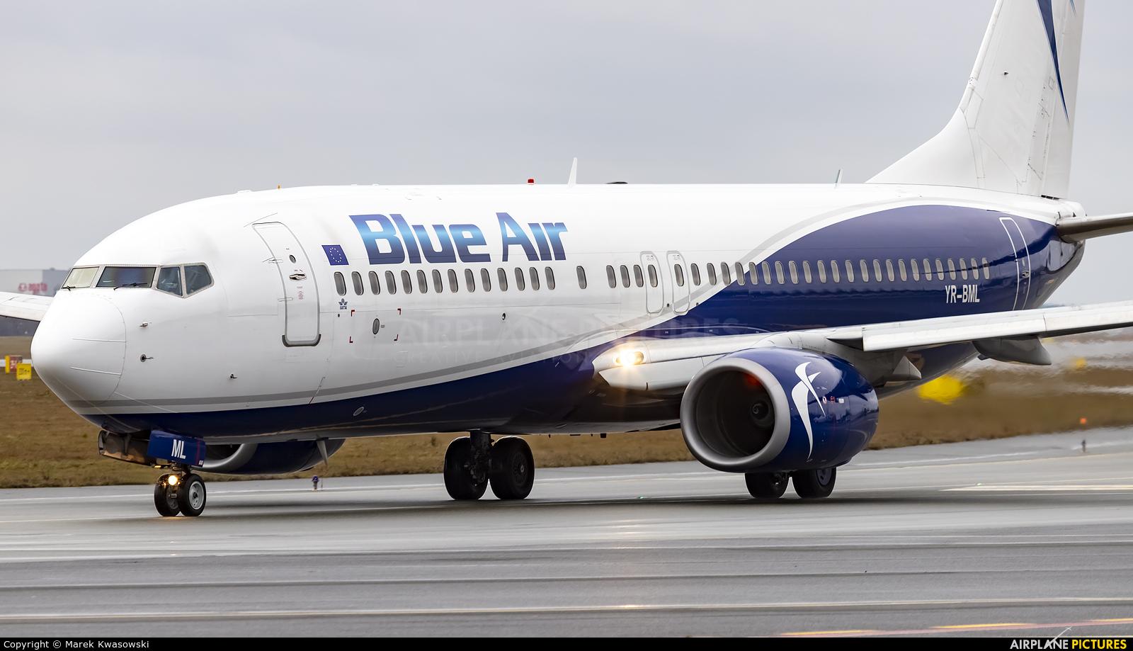 Blue Air YR-BML aircraft at Warsaw - Frederic Chopin
