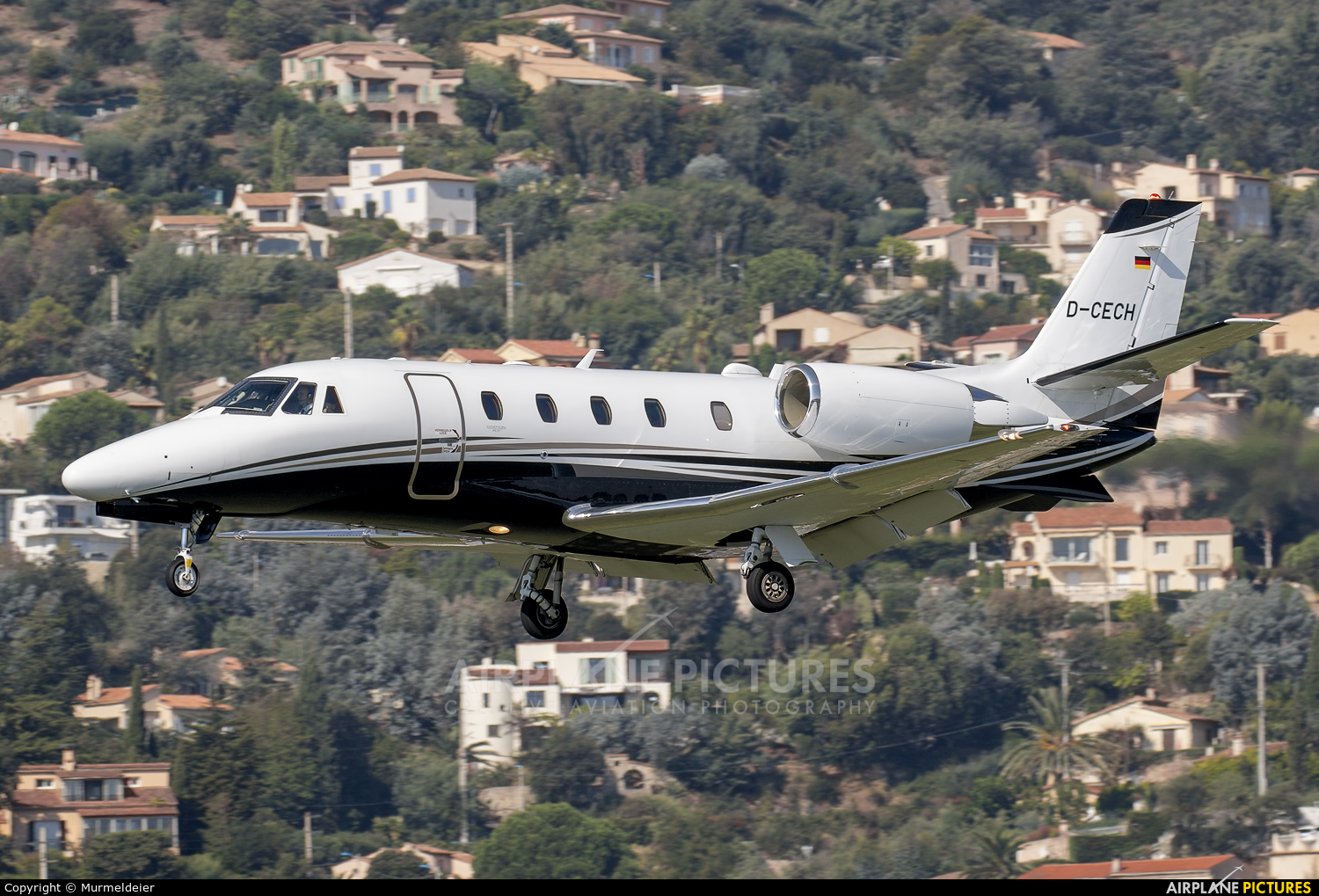 Private D-CECH aircraft at Cannes - Mandelieu