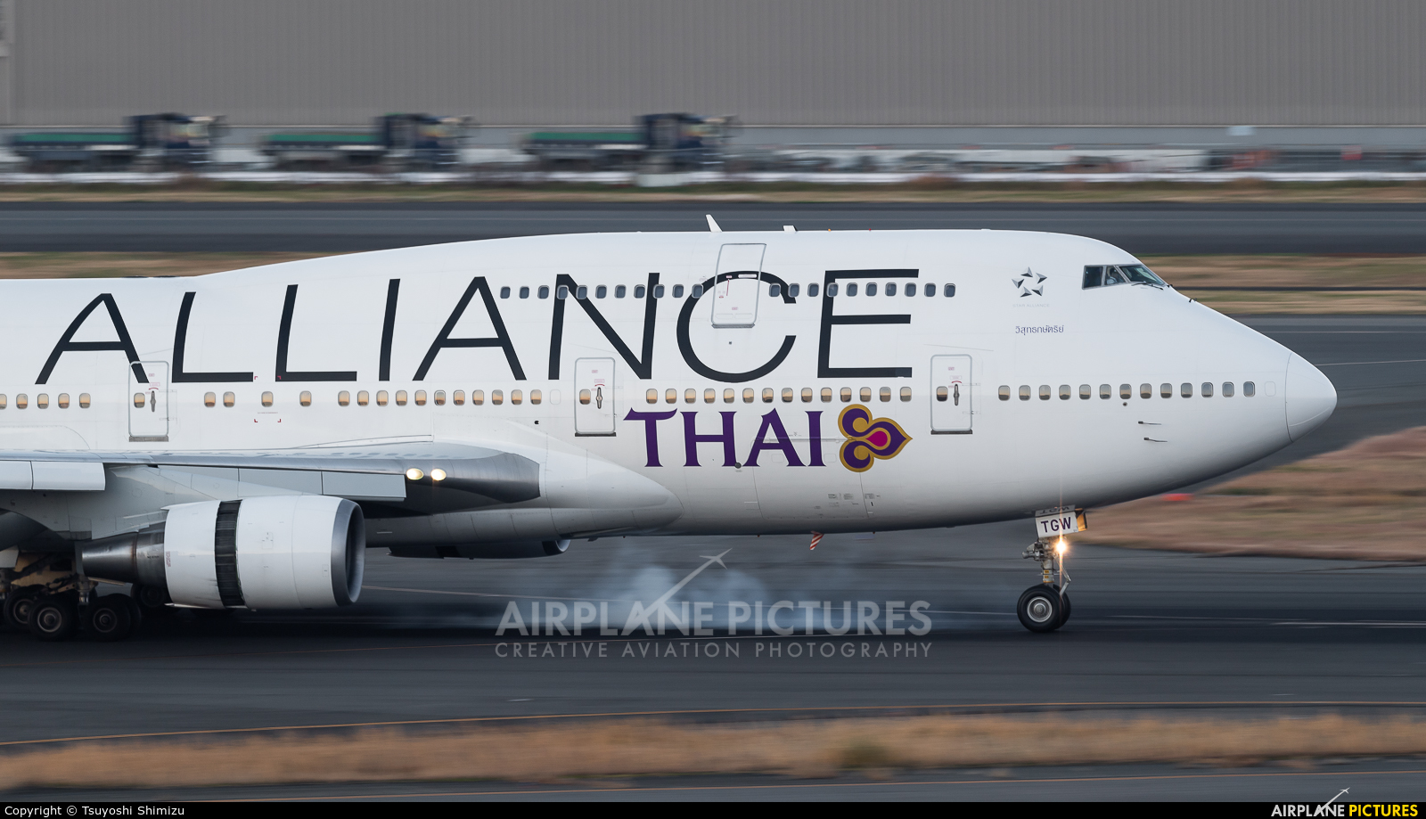 Thai Airways HS-TGW aircraft at Tokyo - Haneda Intl