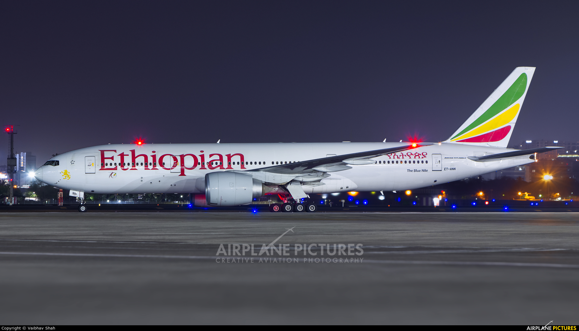 Ethiopian Airlines ET-ANN aircraft at Mumbai - Chhatrapati Shivaji Intl