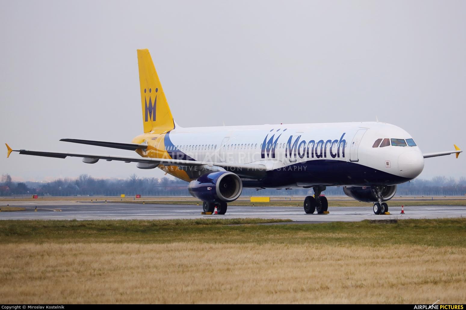 Monarch Airlines G-OZBZ aircraft at Ostrava Mošnov