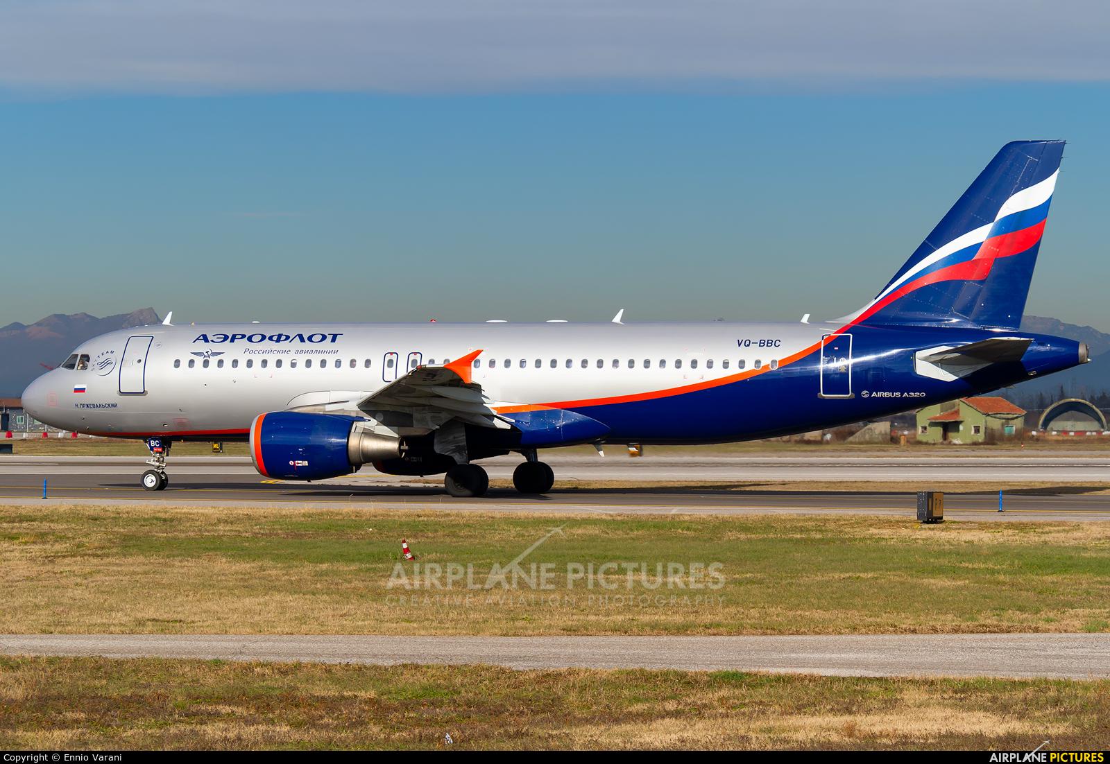 Aeroflot VQ-BBC aircraft at Verona - Villafranca