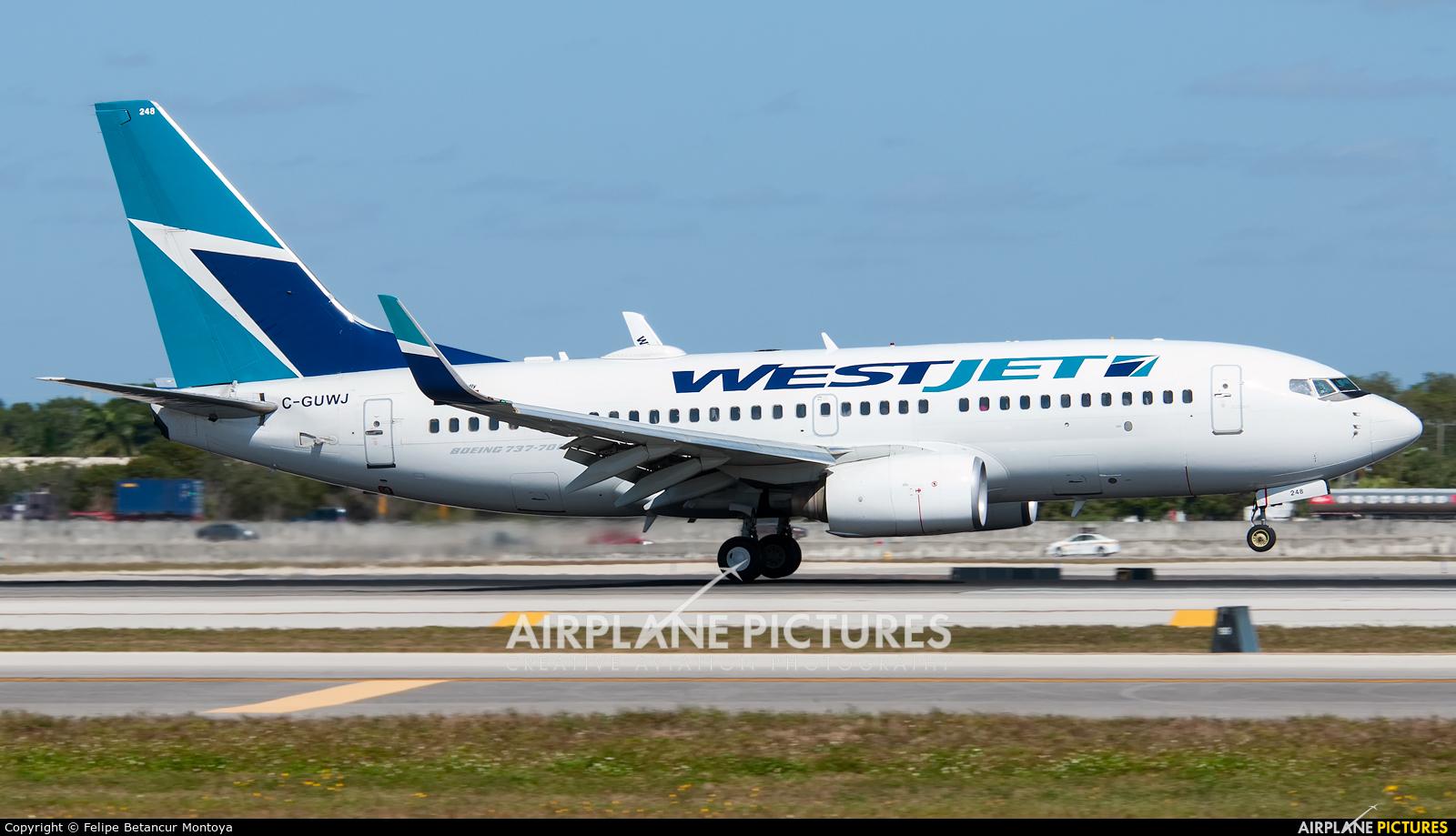 WestJet Airlines C-GUWJ aircraft at Fort Lauderdale - Hollywood Intl