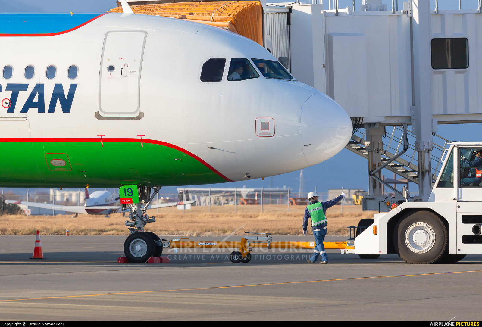 Uzbekistan Airways UK32019 aircraft at Shinshu - Matsumoto