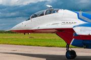 "12 BLUE - Russia - Air Force ""Strizhi"" Mikoyan-Gurevich MiG-29UB aircraft"