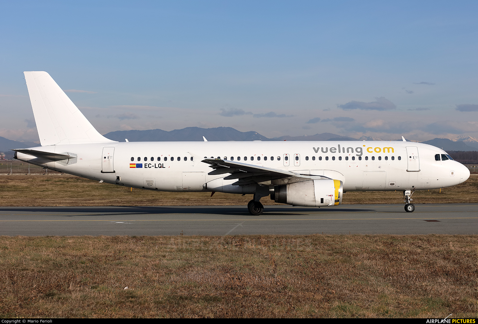 Vueling Airlines EC-LQL aircraft at Milan - Malpensa