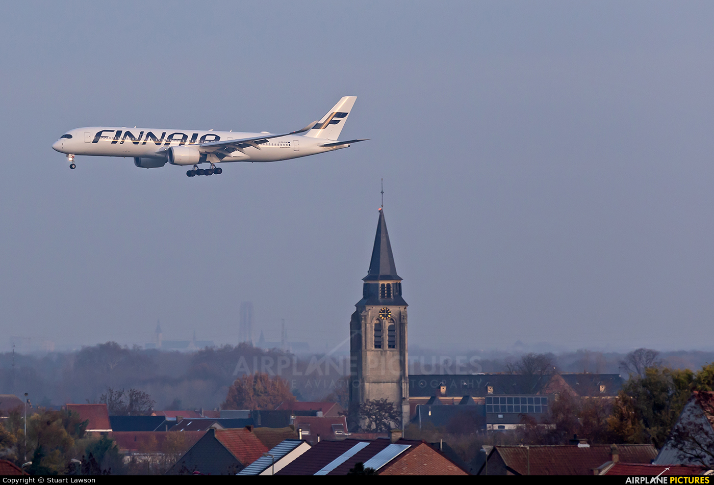 Finnair OH-LWC aircraft at Brussels - Zaventem