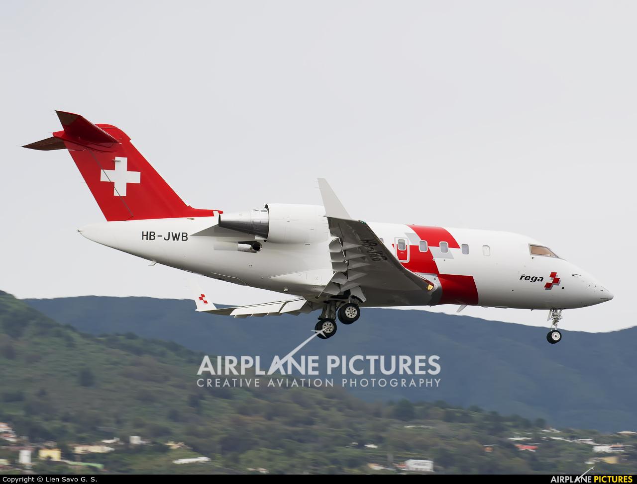 REGA Swiss Air Ambulance  HB-JWB aircraft at Santa Cruz de La Palma