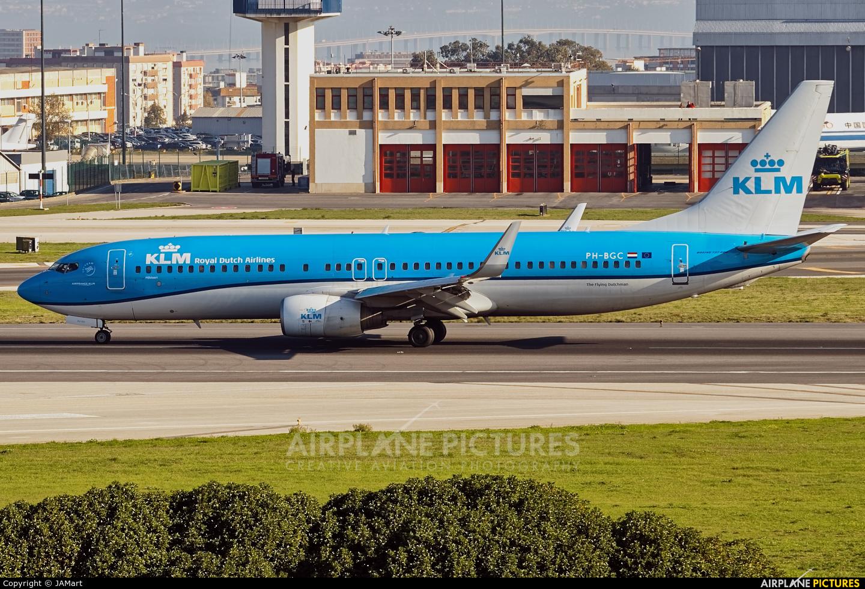 KLM PH-BCB aircraft at Lisbon