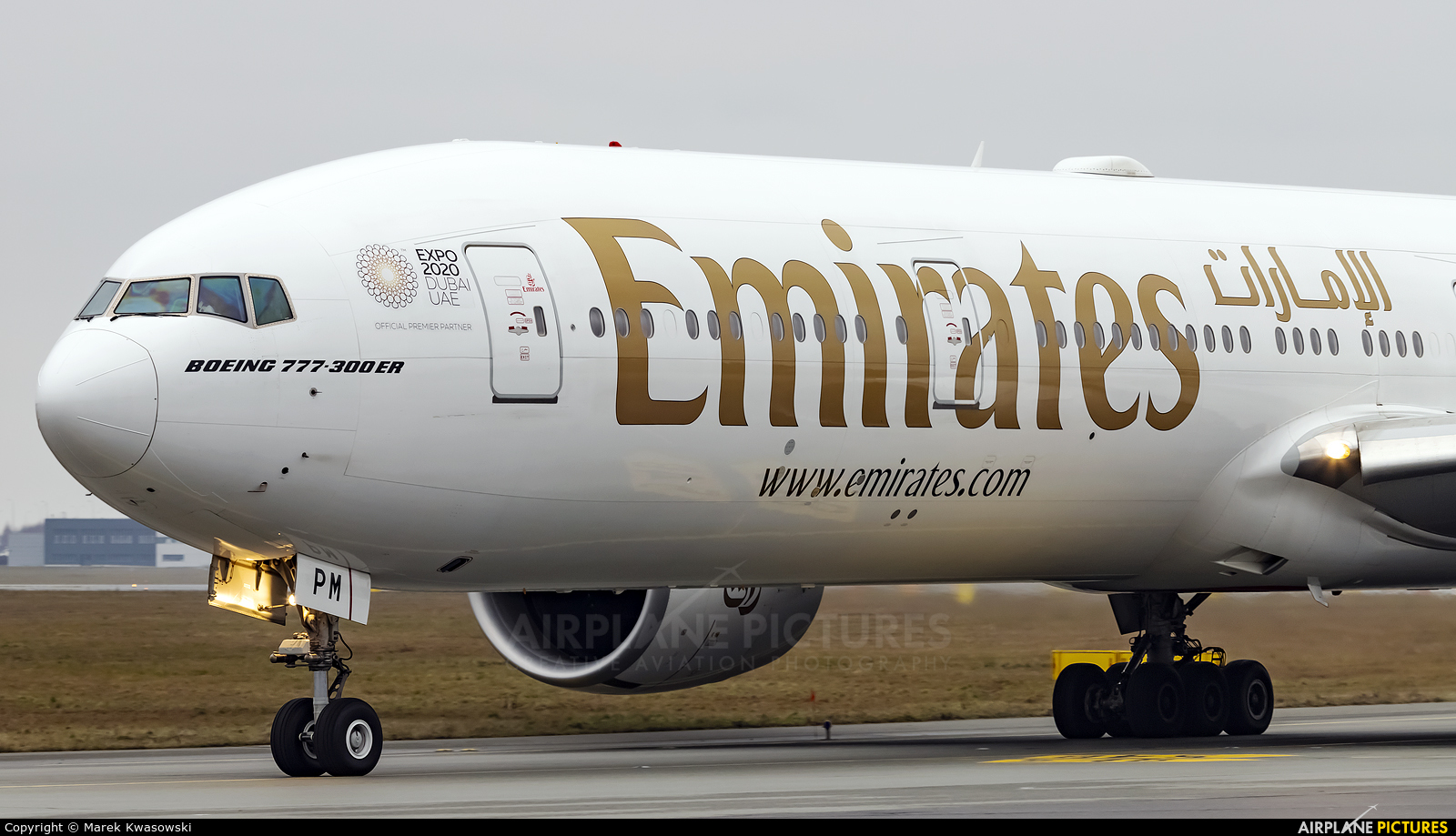 Emirates Airlines A6-EPM aircraft at Warsaw - Frederic Chopin