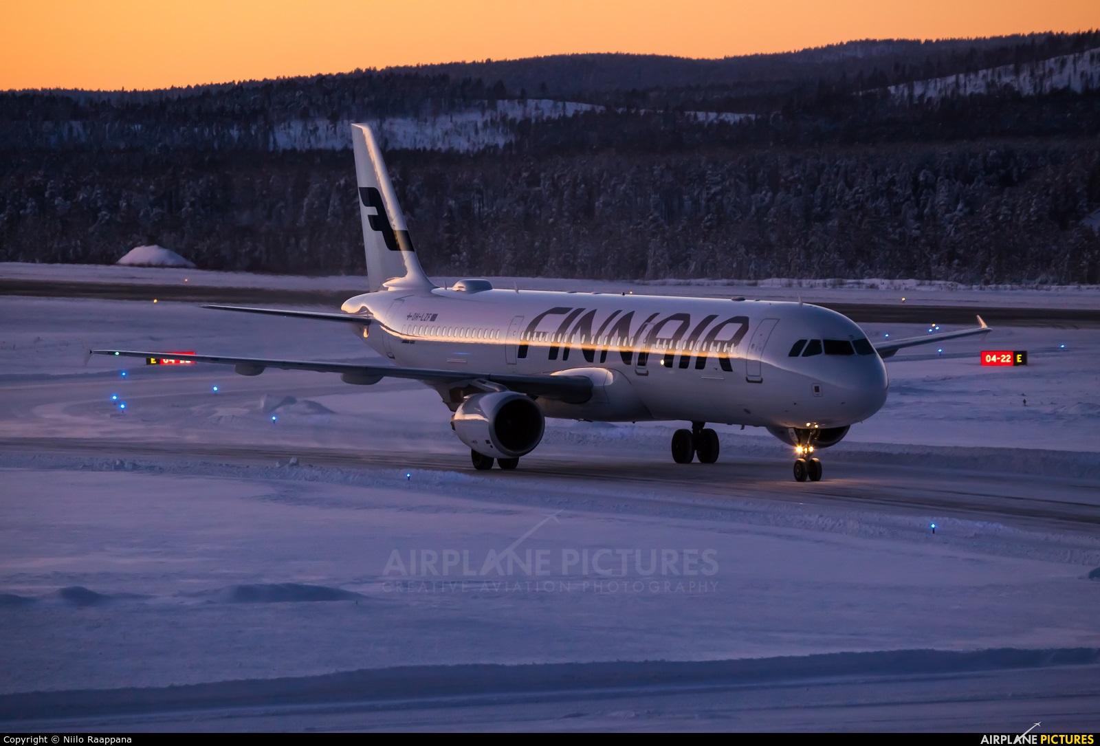 Finnair OH-LZF aircraft at Ivalo Airport