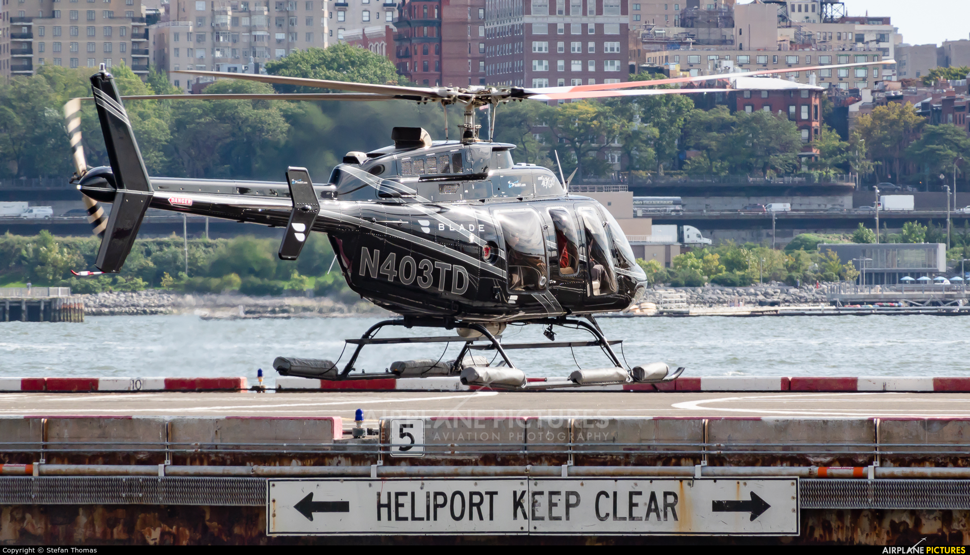 Helicopter Services N403TD aircraft at Downtown Manhattan Heliport