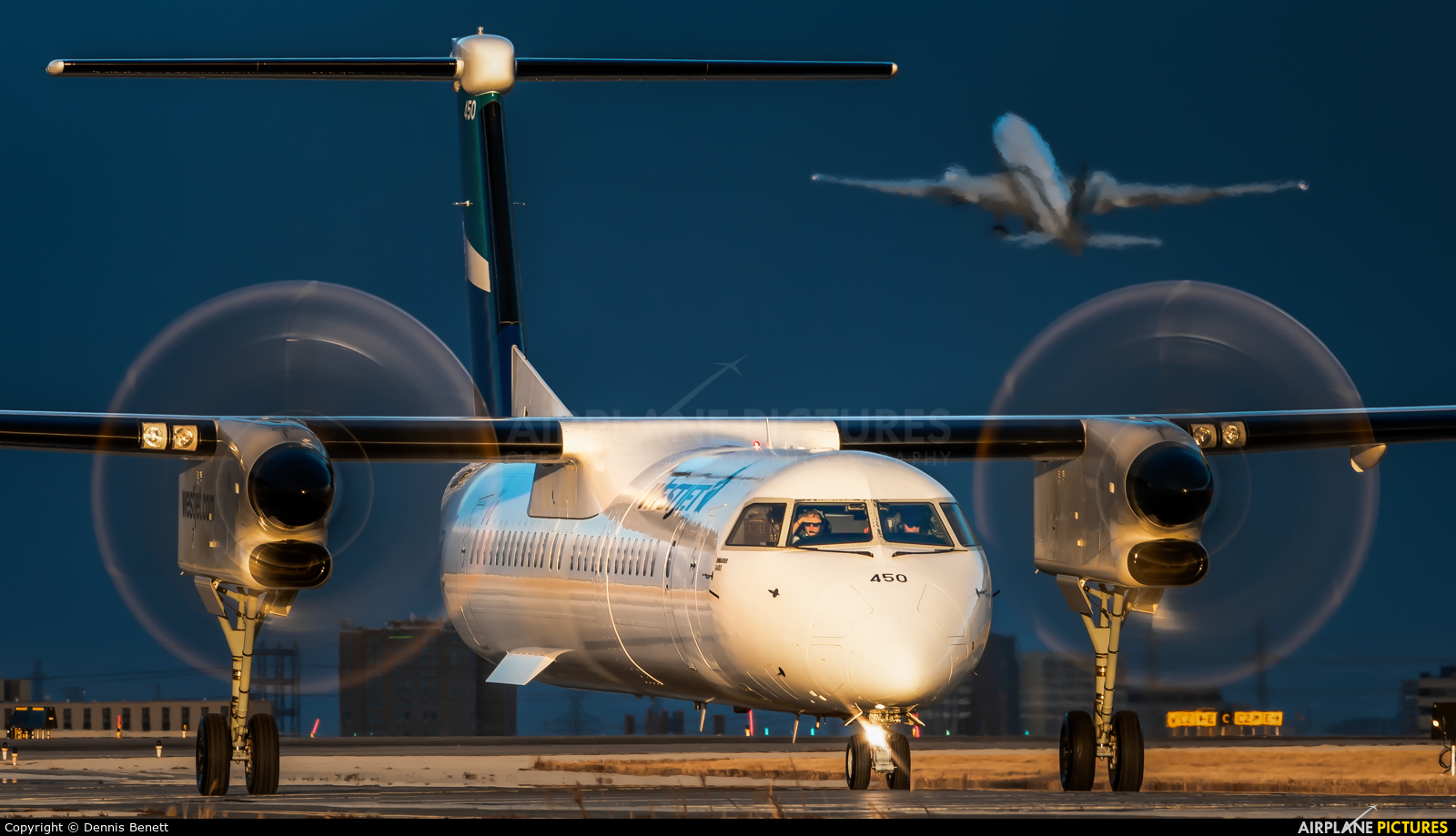 WestJet Encore C-FOWE aircraft at Toronto - Pearson Intl, ON