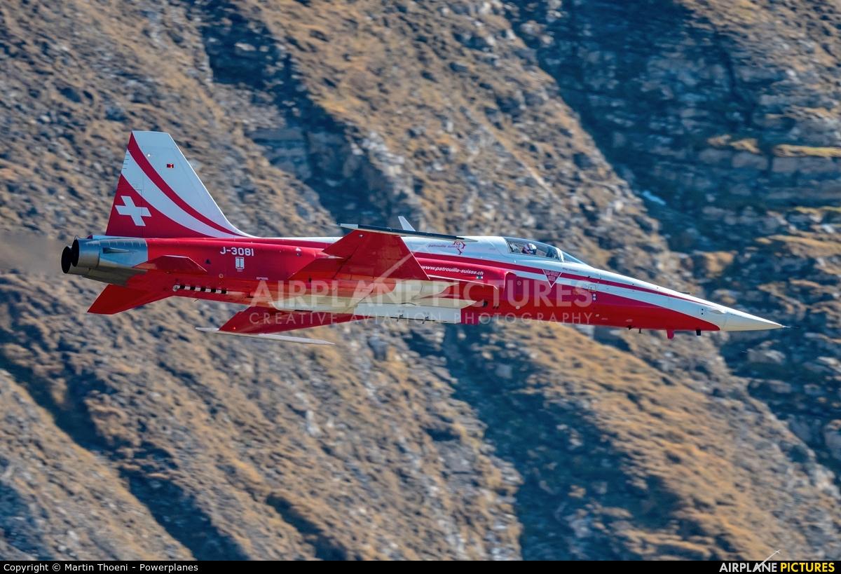 Switzerland - Air Force:  Patrouille de Suisse J-3081 aircraft at Axalp - Ebenfluh Range