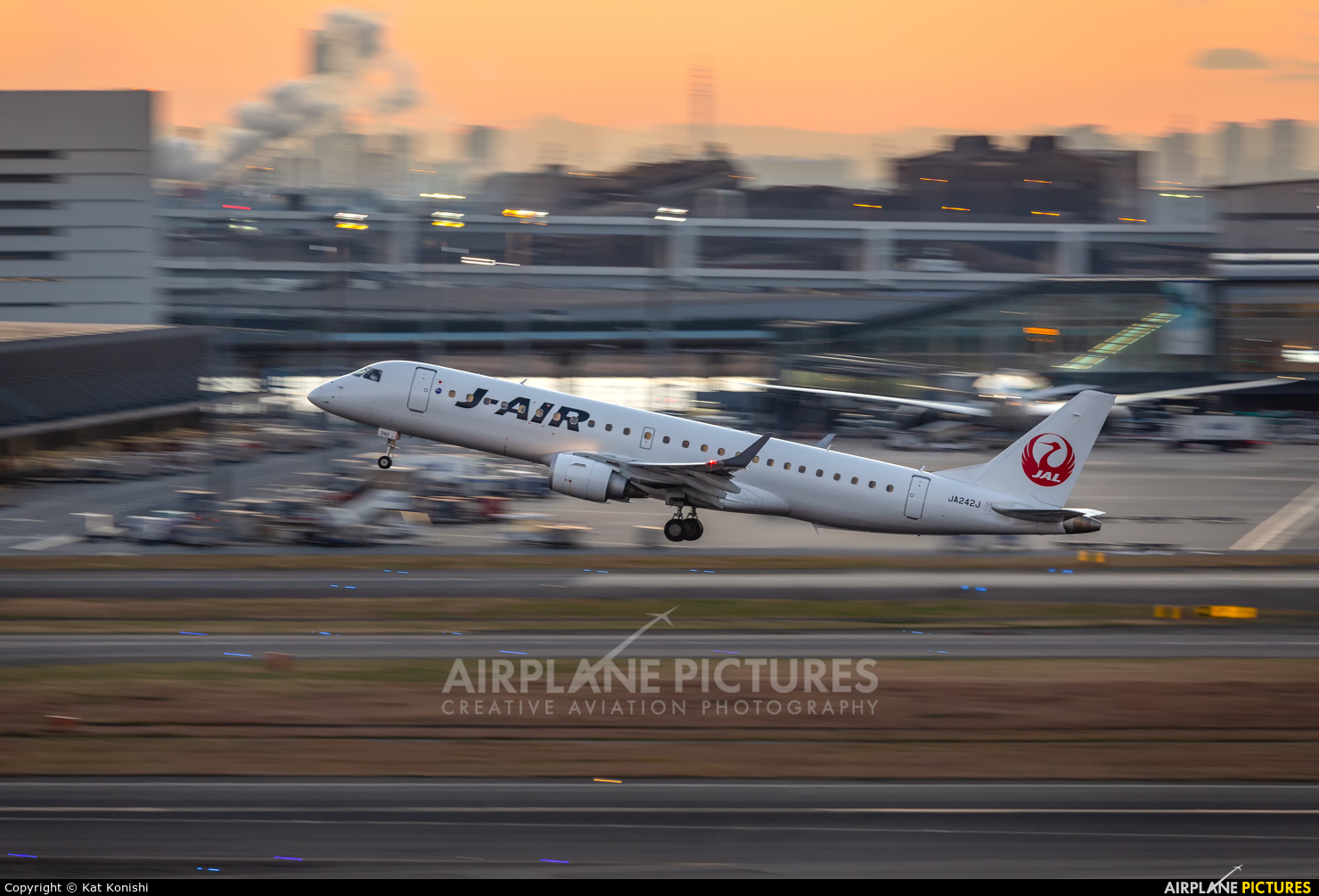 J-Air JA242J aircraft at Tokyo - Haneda Intl