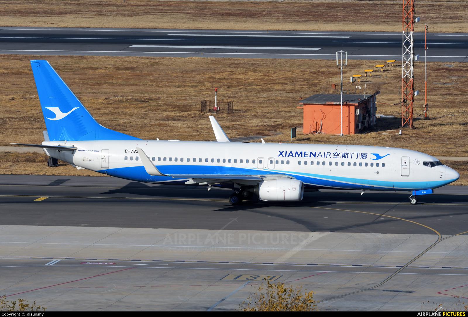 Xiamen Airlines B-7831 aircraft at Dalian Zhoushuizi Int'l