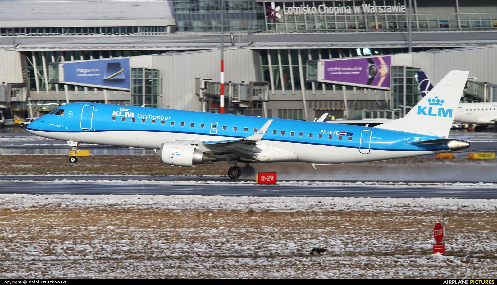 KLM Cityhopper PH-EXE aircraft at Warsaw - Frederic Chopin