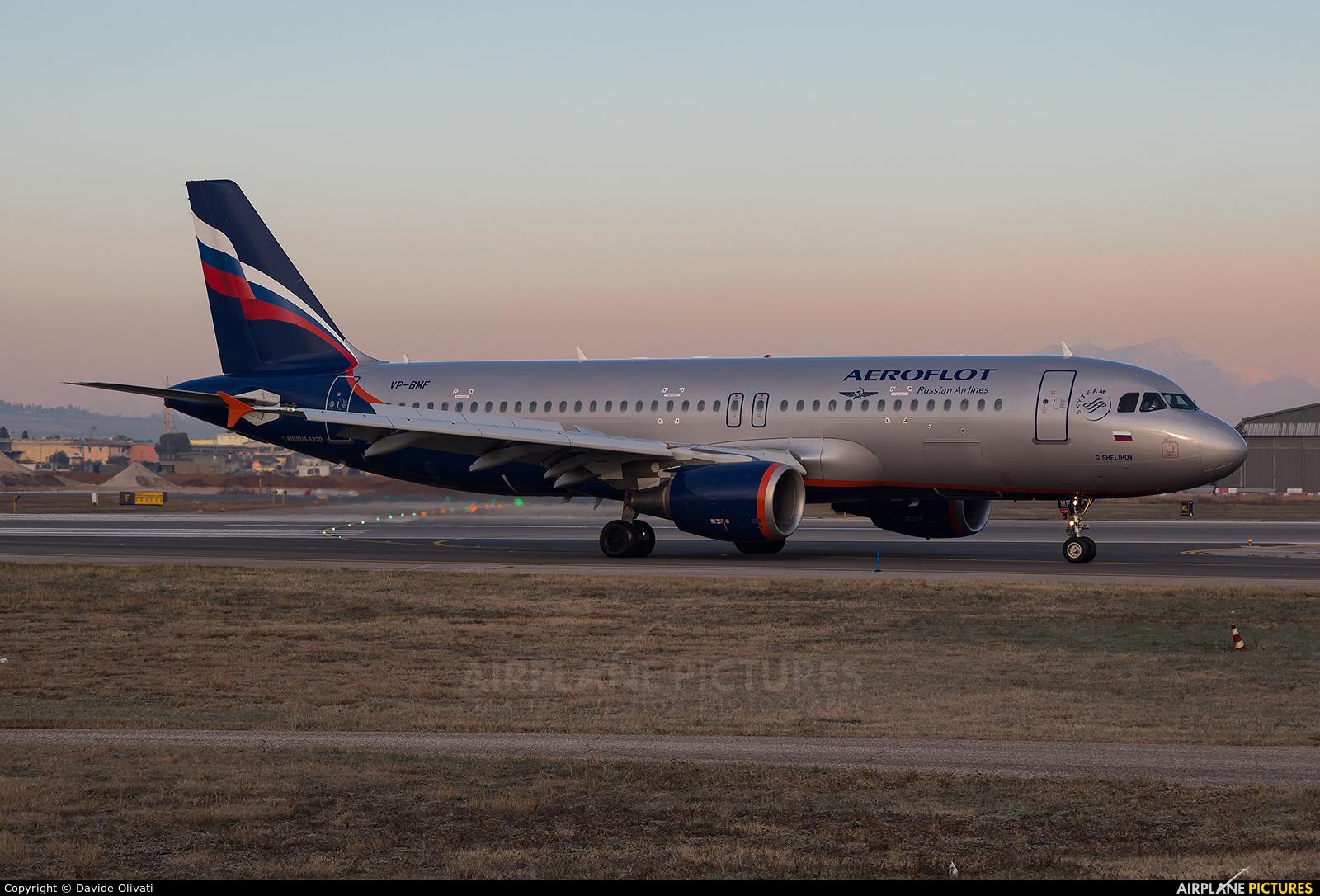 Aeroflot VP-BMF aircraft at Verona - Villafranca