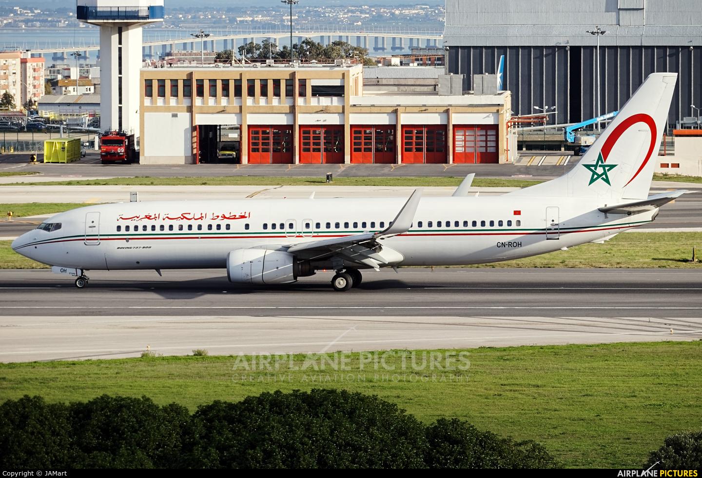 Royal Air Maroc CN-ROH aircraft at Lisbon