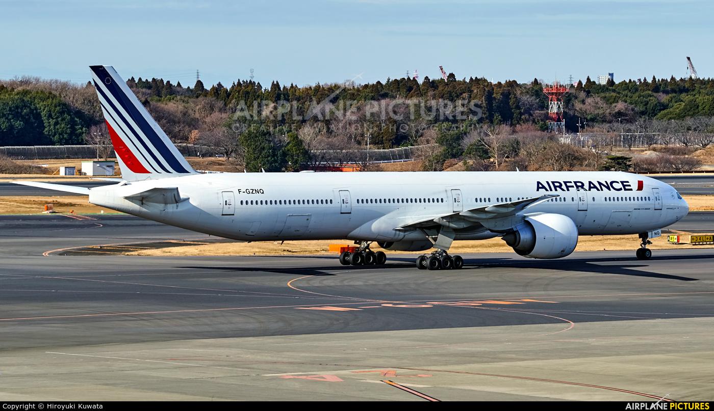 Air France F-GZNQ aircraft at Tokyo - Narita Intl