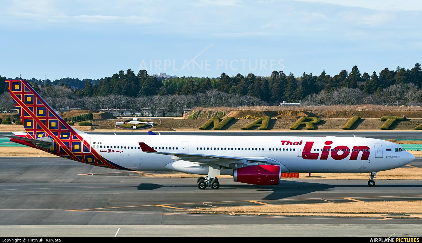Thai Lion Air HS-LAI aircraft at Tokyo - Narita Intl
