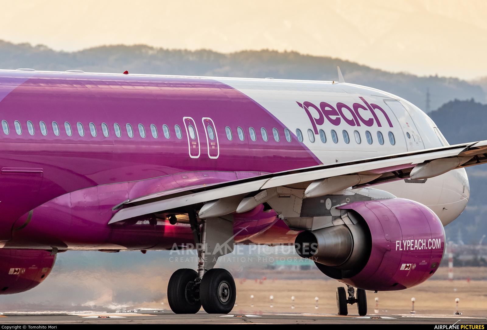 Peach Aviation JA802P aircraft at Sendai