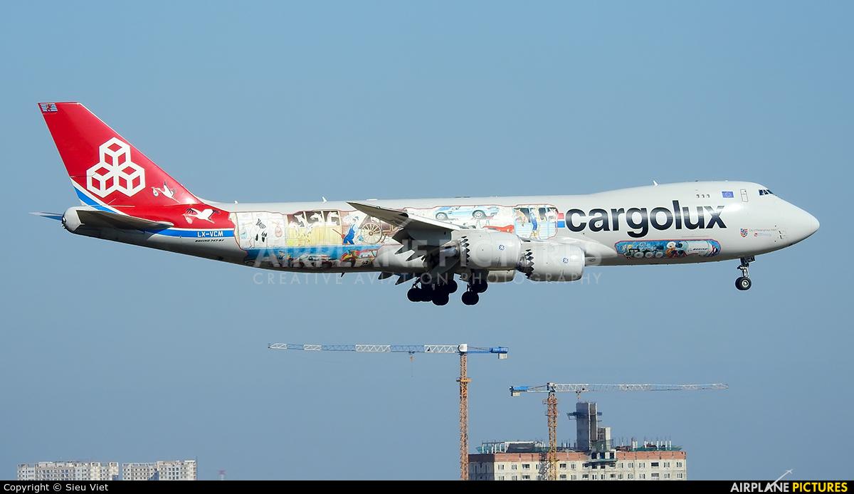 Cargolux LX-VCM aircraft at Ho Chi Minh City - Tan Son Nhat Intl