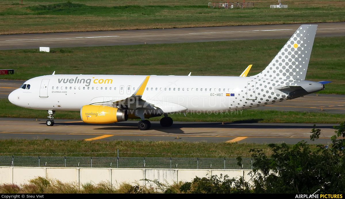 Vueling Airlines EC-MBT aircraft at Ho Chi Minh City - Tan Son Nhat Intl