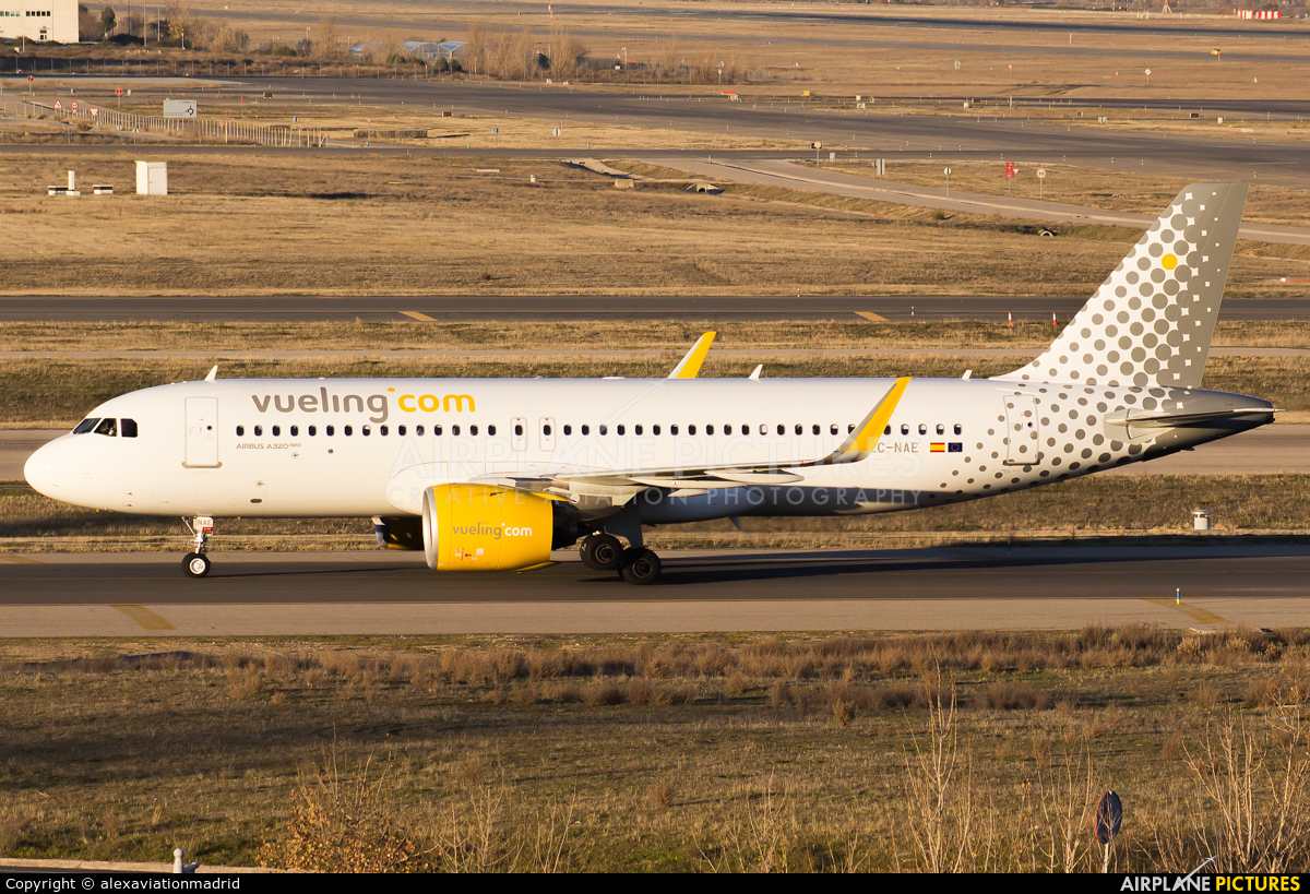 Vueling Airlines EC-NAE aircraft at Madrid - Barajas