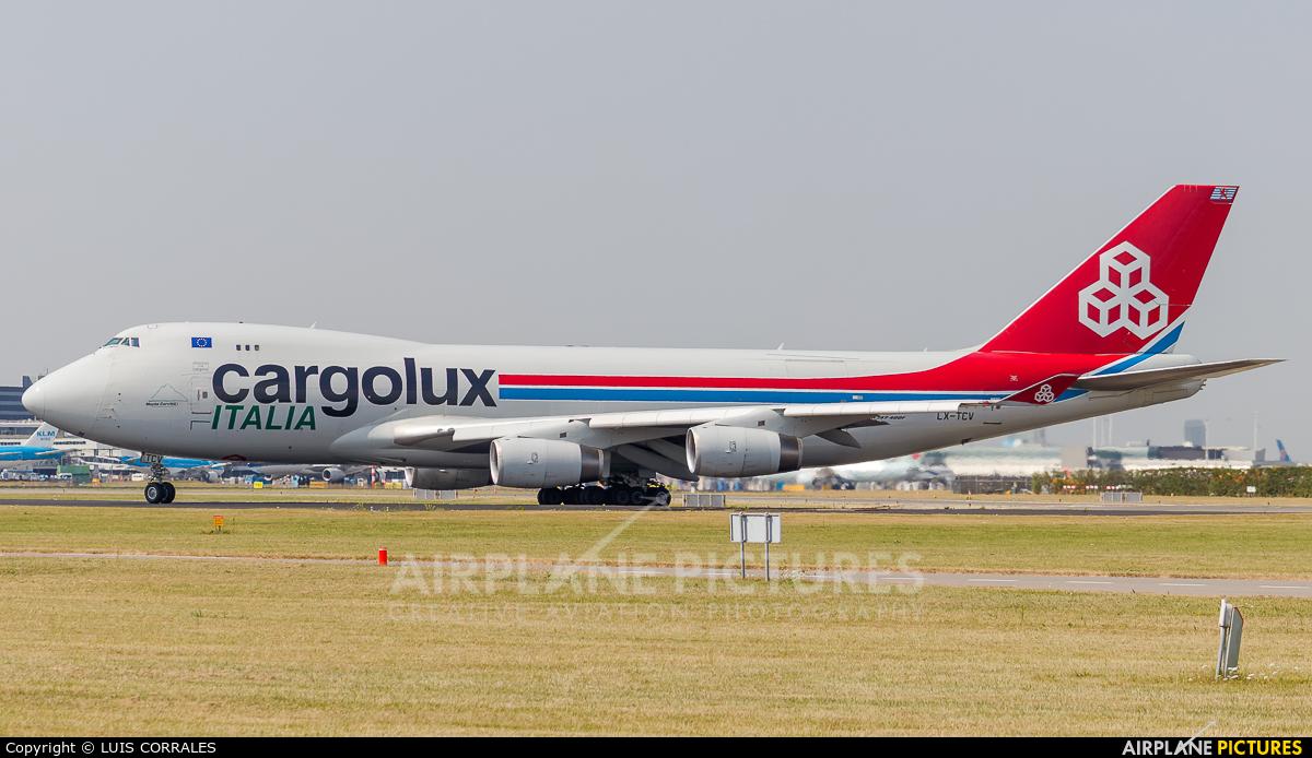 Cargolux Italia LX-TCV aircraft at Amsterdam - Schiphol