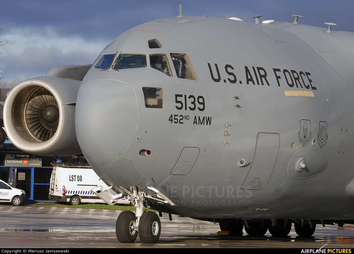 USA - Air Force 05-5139 aircraft at Wrocław - Copernicus