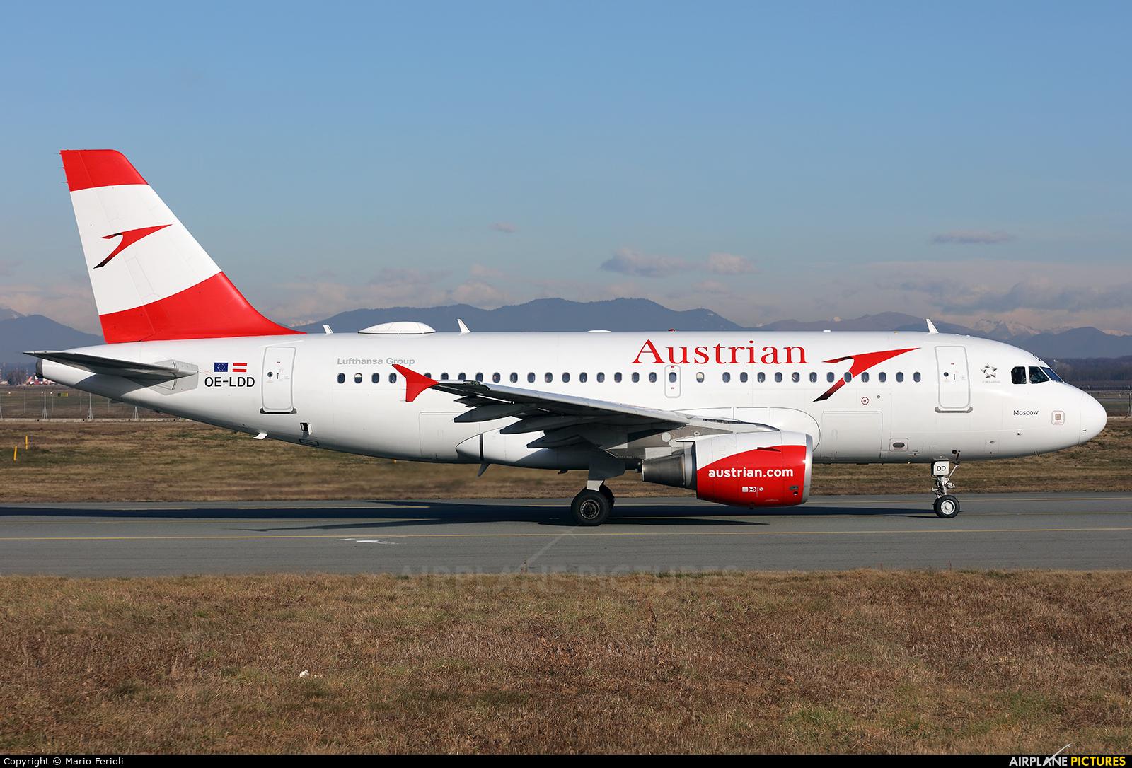 Austrian Airlines/Arrows/Tyrolean OE-LDD aircraft at Milan - Malpensa