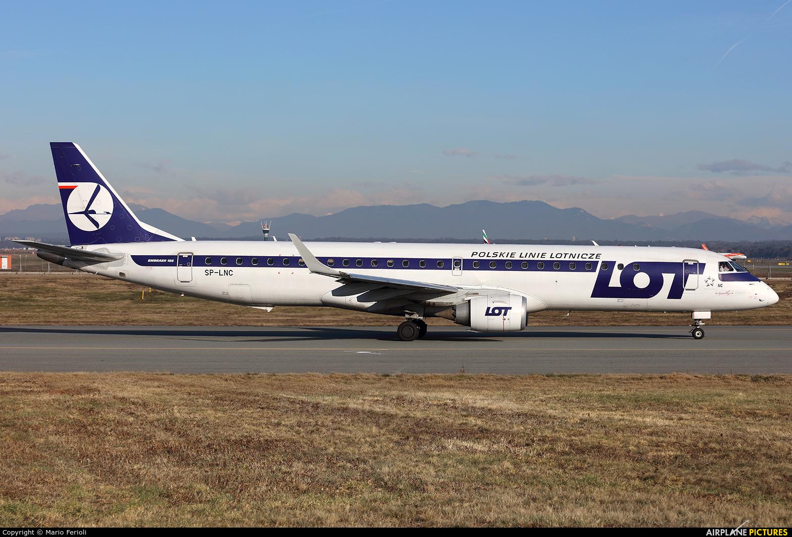 LOT - Polish Airlines SP-LNC aircraft at Milan - Malpensa